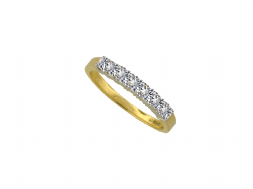 Yellow Gold Diamond Eternity Ring Claw Set